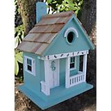 Home Bazaar Sand Dollar Cottage Birdhouse Aqua