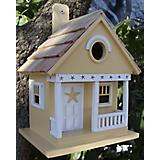 Home Bazaar Starfish Cottage Birdhouse Beige