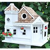 Home Bazaar Sea Cliff Cottage Birdhouse White