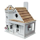 Home Bazaar Flower Pot Cottage Bird House White