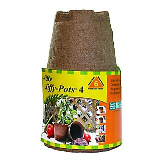 Jiffy Peat Pots 4 inch 6 Pack