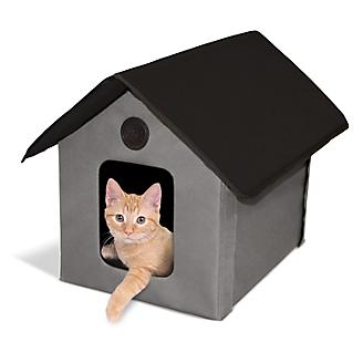 KH Mfg Unheated Gray/Black Outdoor Kitty House