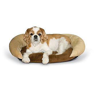 KH Mfg Self-Warming Chocolate Bolster Pet Bed