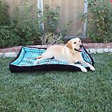 Kensington Black Ice Plaid Bolster Dog Bed