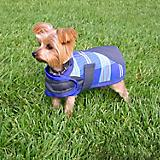 Kensington Plaid Dog Coat XL Blue Ice