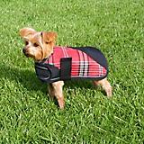 Kensington Plaid Dog Coat 2XL Deluxe Red