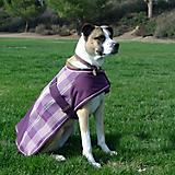 Kensington Plaid Dog Coat 2XL Plum Ice