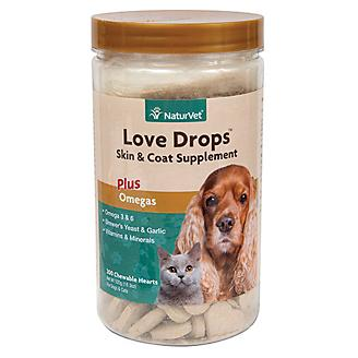 Naturvet Love Drops Skin & Coat Supplement - 200ct