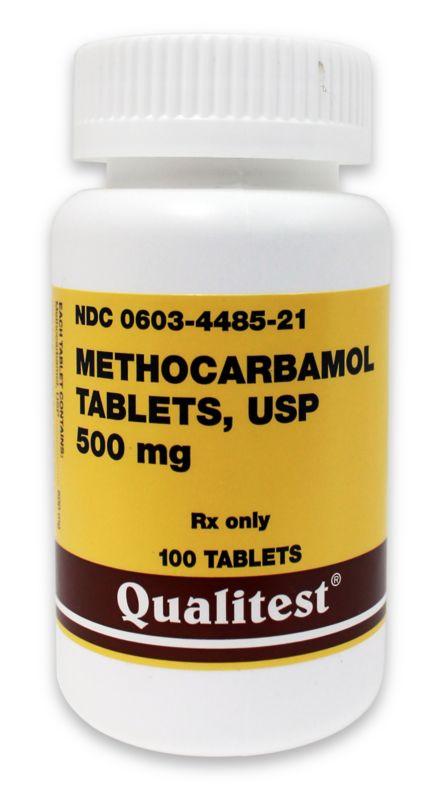 Methocarbamol Tablets 750mg 500 Tablets
