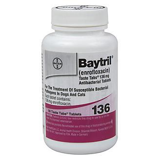 Baytril Taste Tablets 136mg