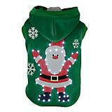 Pet Life LED Hands-Up-Santa Sweater Pet Costume