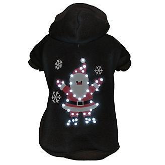 Pet Life LED Juggling Santa Sweater Pet Costume