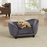 Enchanted Home Pet Dark Grey Snuggle Dog Bed