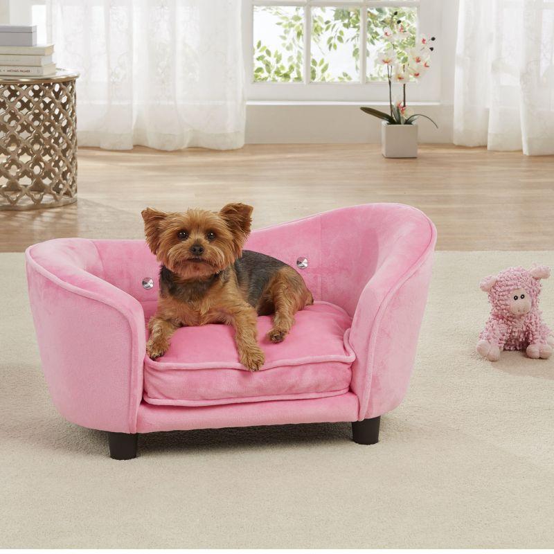 Enchanted Home Pet Light Pink Snuggle Dog Bed