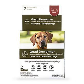 Bayer QUAD Dewormer Large Dog 2ct 136mg