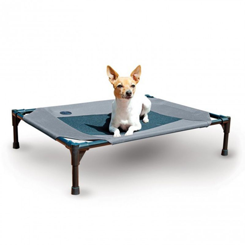 KH Mfg Gray/Blue Coolin Pet Cot Large -  PET HEATING PRODUCTS INC, 100212993