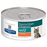 Hills Prescription Diet w/d Canned Cat Food Case
