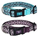 Hamilton Adjustable Damask Dog Collar
