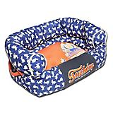 Touchdog Rabbit Spotted Blue Couch Dog Bed