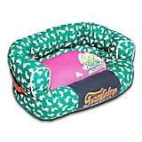 Touchdog Rabbit Spotted Teal/Pink Couch Dog Bed