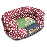 Touchdog Rabbit Spotted Red/Green Couch Dog Bed