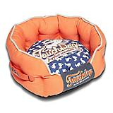 Touchdog Rabbit Spotted Orange Round Dog Bed