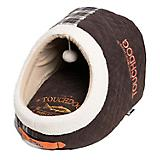 Touchdog Diamond Stitch Active Play Brown Dog Bed