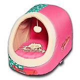 Touchdog Rabbit Spotted Active Play Pink Pet Bed
