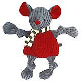 Hugglehounds Holiday Knottie Mouse Plush Dog Toy