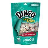 Dingo Mini Dental Treats 21 Pack Value Bag 9 oz