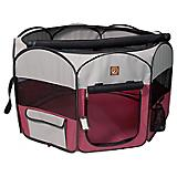 One for Pets Fuschia/Grey Portable Pet Playpen