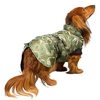 Hurtta Summit Parka Dog Winter Coat Green Camo 32 in