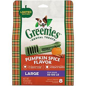 GREENIES Pumpkin Spice Large Dog Dental Chew 12oz