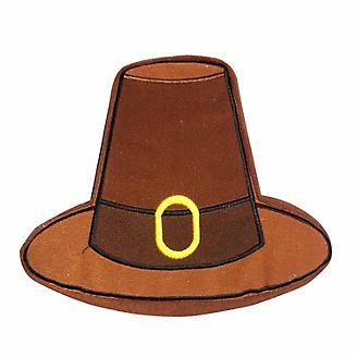 Pridebites Pilgrim Hat Plush Dog Toy