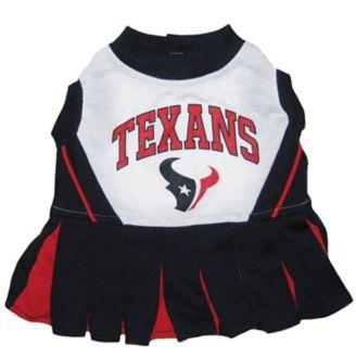 reputable site f00f3 5700e Houston Texans Cheerleader Dog Dress XSmall - 1800PetSupplies.com