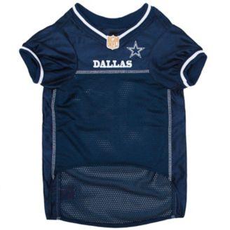 promo code 940fd 13ded Dallas Cowboys Gray Trim Dog Jersey
