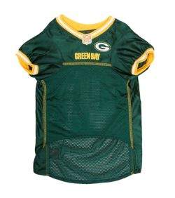 new concept aa05c 6f1cf Green Bay Packers Yellow Trim Dog Jersey