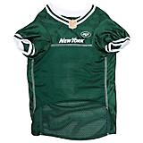 New York Jets White Trim Dog Jersey
