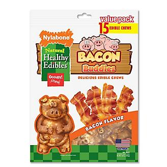 Healthy Edibles Bacon Buddies Dog Chew 15ct