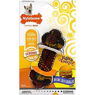 Nylabone Bacon Cheeseburger Rubber Dog Chew