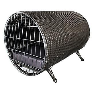 Iconic Pet Rattan Cylinder Indoor/Outdoor Pet Cage