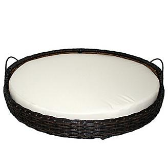 Iconic Pet Rattan Round Indoor/Outdoor Bed