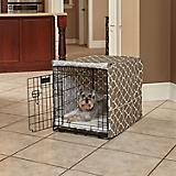 Quiet Time Covella Brown Dog Crate Cover