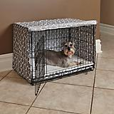 Quiet Time Covella Gray Dog Crate Cover