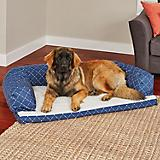 Quiet Time Hampton Blue Ortho Sofa Dog Bed
