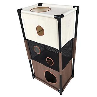 Pet Life Kitty-Square Play-Active Cat House