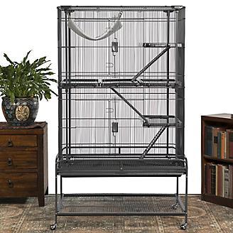 Prevue Deluxe Black Critter Cage