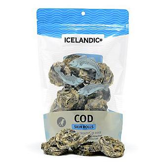 Icelandic Plus Cod Skin Rolls Dog Treat