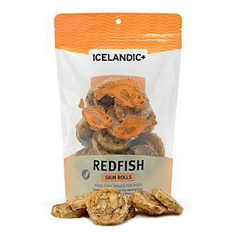 Icelandic Plus Redfish Skin Rolls Dog Treat