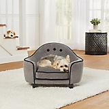 Enchanted Home Pet Headboard Grey Sofa Dog Bed